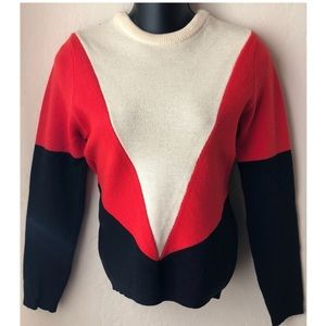 Vintage Sweaters - Vintage Geometric Design Wool Sweater